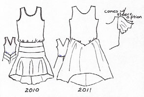 20's dresses pattern outlines